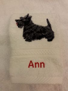 SCOTTIE DOG PERSONALISED FACE CLOTH
